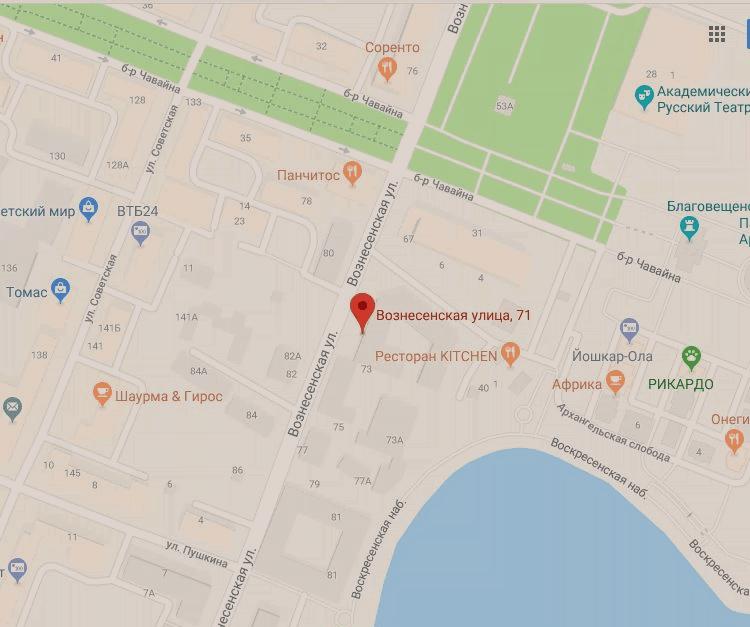 Карта куда подать документы на открытие ип в йошкар-оле